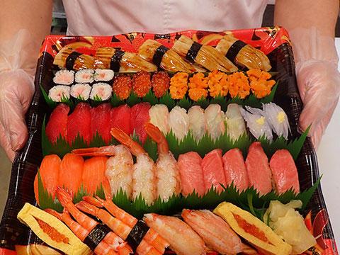 出前館からの注文が便利です 寿司の出前