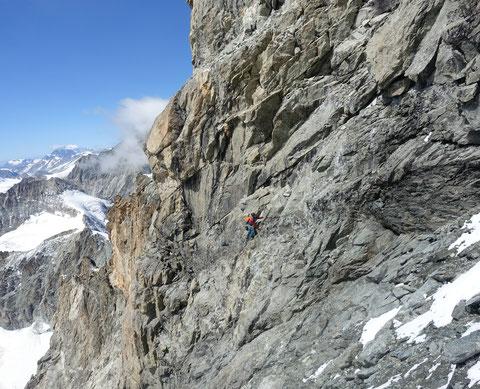 Matterhorn, Hochtour, Obergabelhorn, Südwand, Kohleband, Couloir