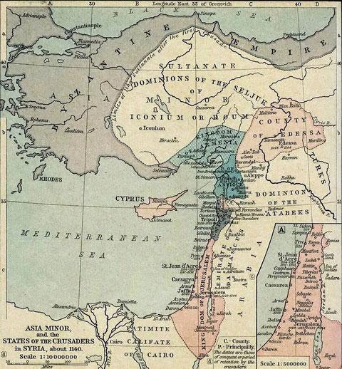 Wiki: Kreuzfahrerstaaten im Jahr 1140
