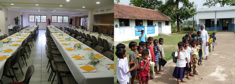 Marcellaz dining room and Prathipadu school
