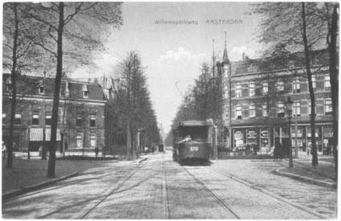 Lijn 2 op de Willemsparkweg, 1917