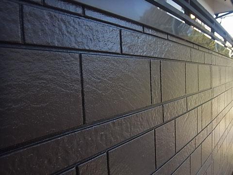 熊本市K様家の外壁塗装を目地残し塗装でブラウンカラーに塗替え完成。