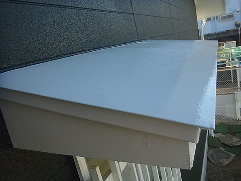 木部塗装AFTER ホワイト仕上げ 高耐久 防カビシリコン塗料使用。