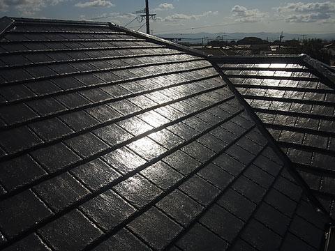 熊本市K様家の屋根瓦塗装完成。耐久性が自慢で長期保護します。