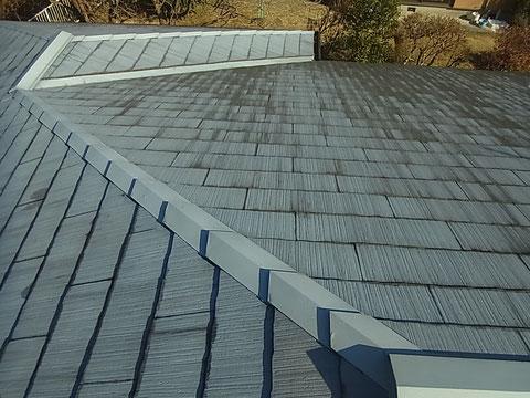 熊本Y様家の薄型スレート屋根塗装前。
