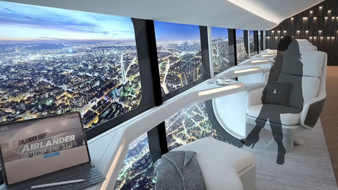 Imagen gráfica del interior del zepelín Airlander 10/ Foto (cc): Hybridairvehicles