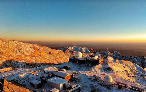 Panorama del observatorio de Lenghu, en la Meseta del Tíbet (China).  /Foto: Licai Deng