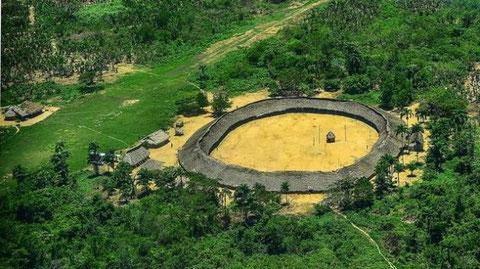 Vista panorámicas de las tribus del norte de Brasil, frontera con Venezuela/ Foto : Romeu Escanhoela
