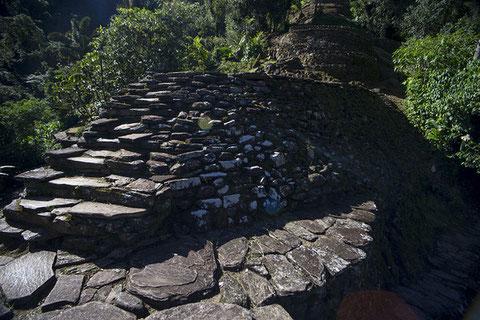 Escalera de piedra que lleva a Ciudad Perdida. / ICANH