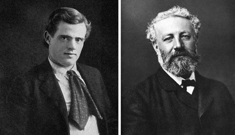 Jack London y Julio Verne, dos clásicos de la narrativa de viajes.
