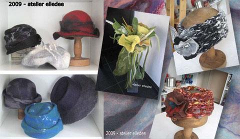 Chapeaux, turbans, écharpes en feutre