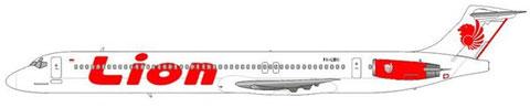 MD-82 mit leicht modifizierter Farbgebung (rote Triebwerksverkleidung) /Courtesy: md80design