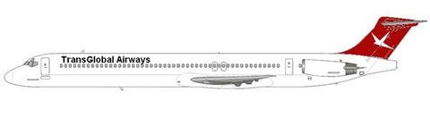 So hätte die mD-83 in der bekannten Bemalung ausgesehen/Courtesy and Copyright: md80design
