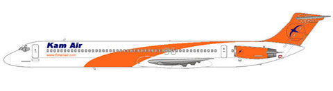 Hier eine MD-82 in voller Kam Air-Bemalung/Courtesy and Copyright: md80design