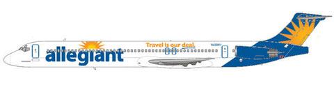 MD-83 mit modifiziertem Unternehmensauftritt/Courtesy: md80design