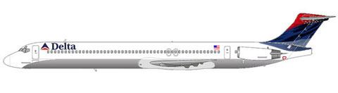 MD-88 mit bis zum 30.04.07 gültigen Farbschema/Courtesy and Copyright: md80design