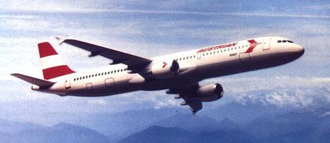 Airbus A321 in den klassischen Farben der AUA/Airbus Industrie