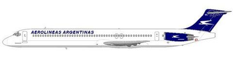 MD-88 mit dem aktuellen Farbschema/Courtesy and Copyright: md80design