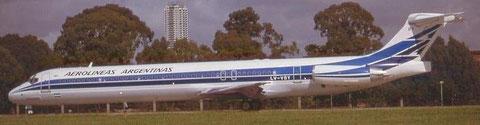 MD-88/Courtesy: Aerolineas Argentinas