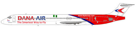 MD-83 der Dana Air/Courtesy and Copyright: md80design