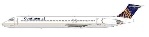 Relativ wenige MD-80 besaßen bei Continental Airlines den neuen Heckkonus/Courtesy and Copyright: md80design
