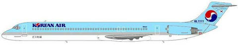 MD-82 der Korean Air mit rundem Heckkonus/Courtesy and Copyright: md80design