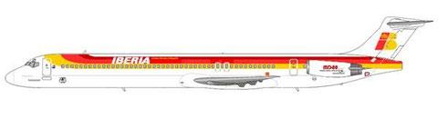 Alle 13 MD-88 erhielten das Farbkleid der Iberia/Courtesy and Copyright: md80design