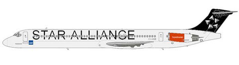 """Star Alliance""-Bemalung auf einer MD-80 der SAS/Courtesy and Copyright: md80design"