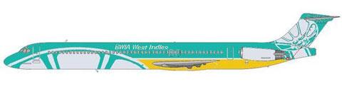 Einige MD-83 erhielten noch das aktuelle Farbschema/Courtesy and Copyright: md80design