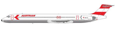 MD-83 - in den ersten Jahren mit 144 Sitzplätzen konfiguriert/Courtesy and Copyright: md80design