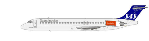 SAS MD-87 im aktuellen Farbschema/Courtesy and Copyright: md80design
