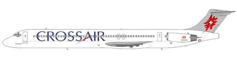 Crossair MD-83 im finalen Farbkleid/Courtesy and Copyright: md80design