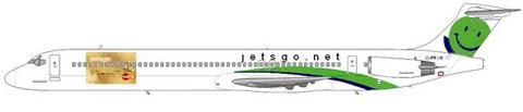 Eine MD-83 warb für eine Kreditkartenfirma/Courtesy and Copyright: md80design
