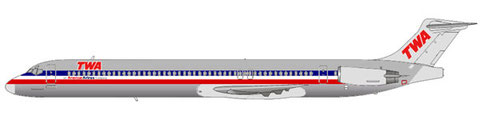 "MD-80 im Interims-Farbkleid der ""TWA Airlines""/Courtesy and Copyright: md80design"