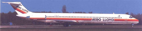 Die erste MD-83 nur wenige Wochen nach Indienststellung in Hamburg fotografiert/Postkarte/Privatsammlung