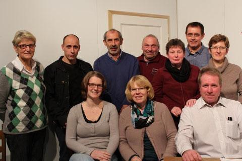 Stehend v.l.: Maria Witting, Henrik Kösters, Paul Wiesch, Ralf Nolte, Renate otting, Claus Lüttmann, Ingrid Storm; sitzend v.l.: Claudia Briem, Agnes Büscher, Klaus Jürgens