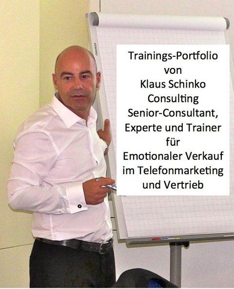 Klaus Schinko Experte für Emotionaler Verkauf im Direktvertrieb und Telefonmarketing