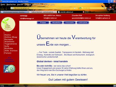 Matzer Bioladen Online Shop
