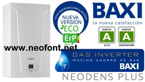 Baxi Neodens plus ecpo 24/24f instalación incluida