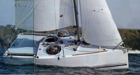 Chined plywood mini transat by Lucas