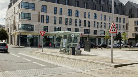 Le quai K de la Gare Routière de Saint-Malo, qui n'a jamais été utilisé depuis sa construction par le réseau KSMA