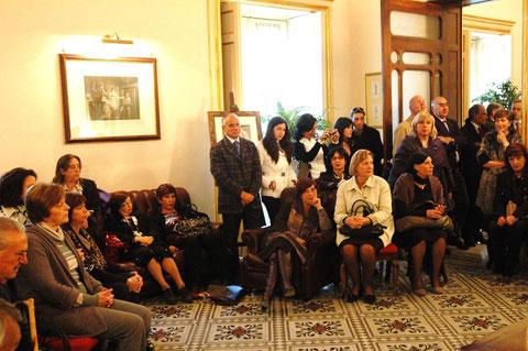 La sala riunione durante la manifestazione,
