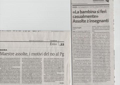 LA SICILIA -  2 agosto 2011 - G.d.S. 30 luglio 2011