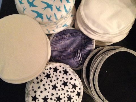 Couches lavables Hippybottomus Coussinets d'allaitement lavables