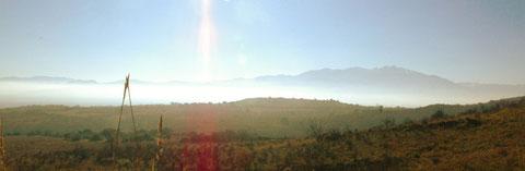 Vue sur la plaine, 14 heures aujourd'hui