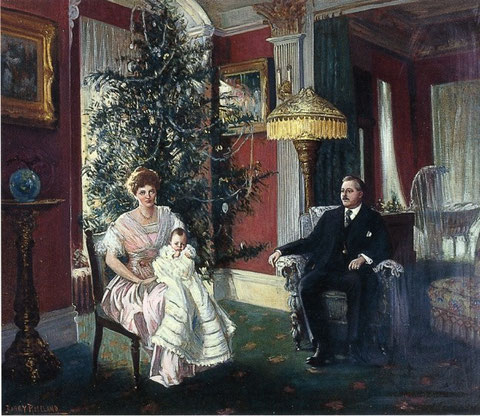 Harry Roseland (American painter, 1867-1950) Christmas Morning 1915