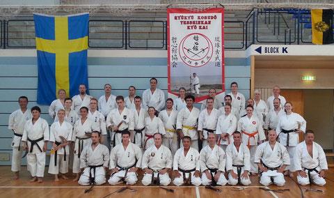 Teilnehmer des Gasshuku (Foto mit freundlicher Genehmigung von Andreas Eriksson/Schweden - Domo arrigato)