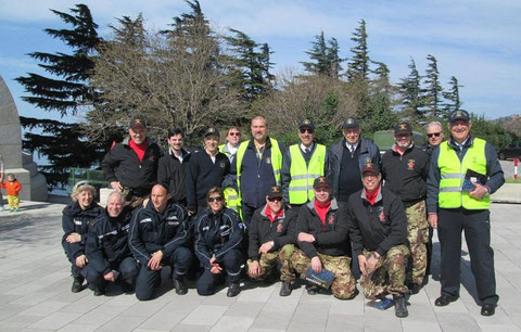 Volontari ANMI TRIESTE Trofeo Faro Vittoria.29.3.2015