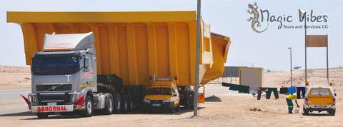 Waschtag am Roadblock Swakopmund