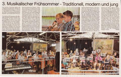 Bericht im Erbenheimer Anzeiger 23.05.2014